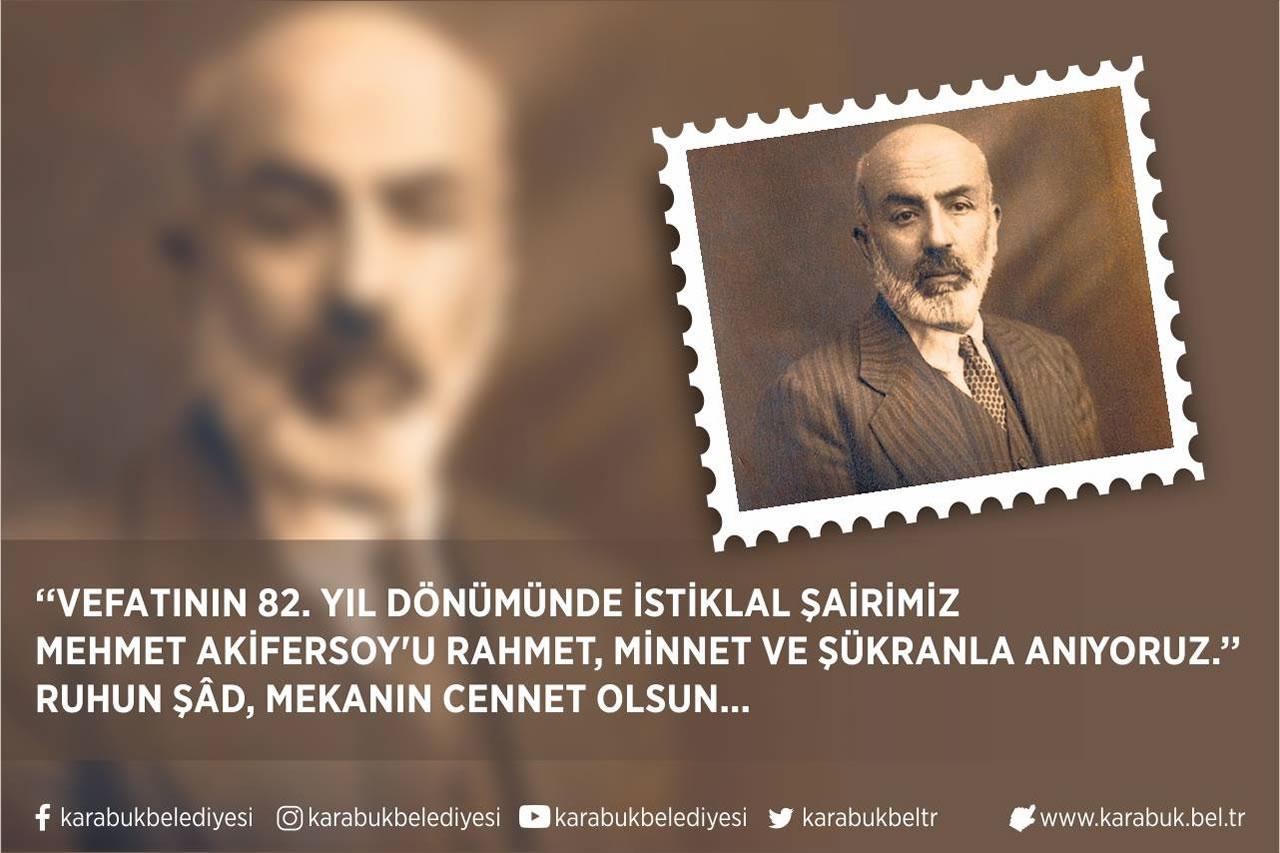 Başkan Vergili'nin, Mehmet Akif Ersoy'un Vefatının 82. Yıl Dönümü Mesajı