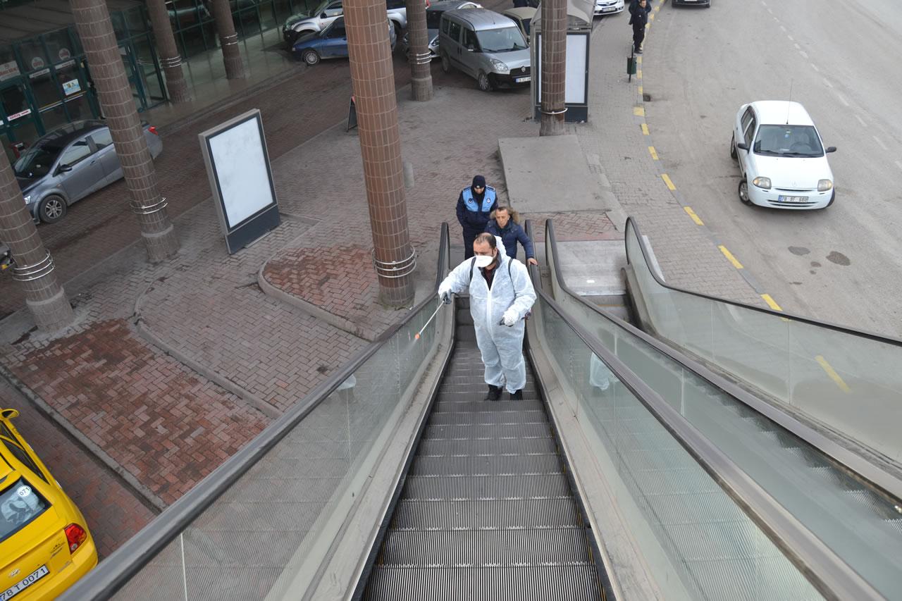 Karabük Belediyesinden Dezenfekte Çalışması
