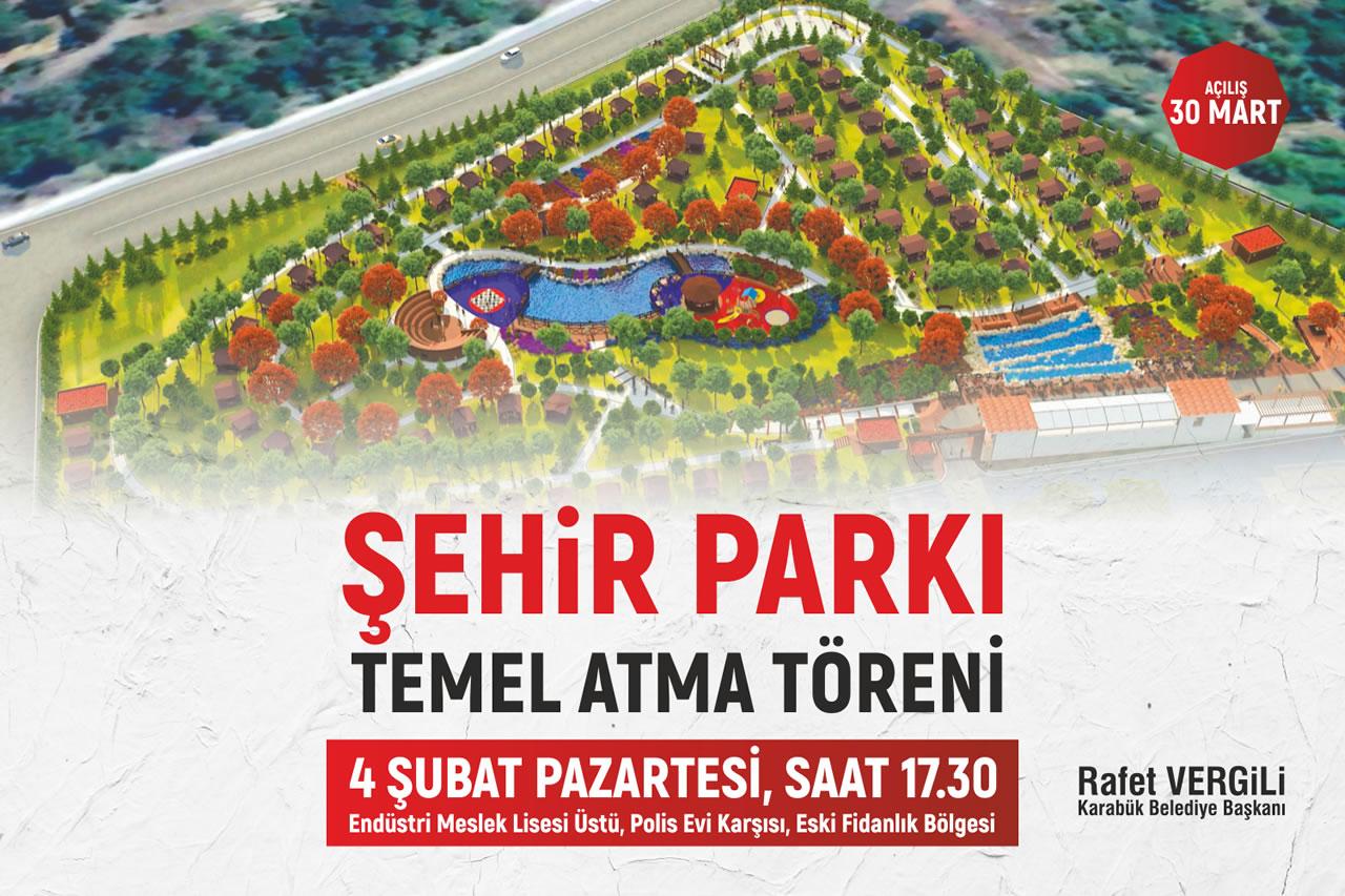 Şehir Parkı'nın Temeli Atılıyor
