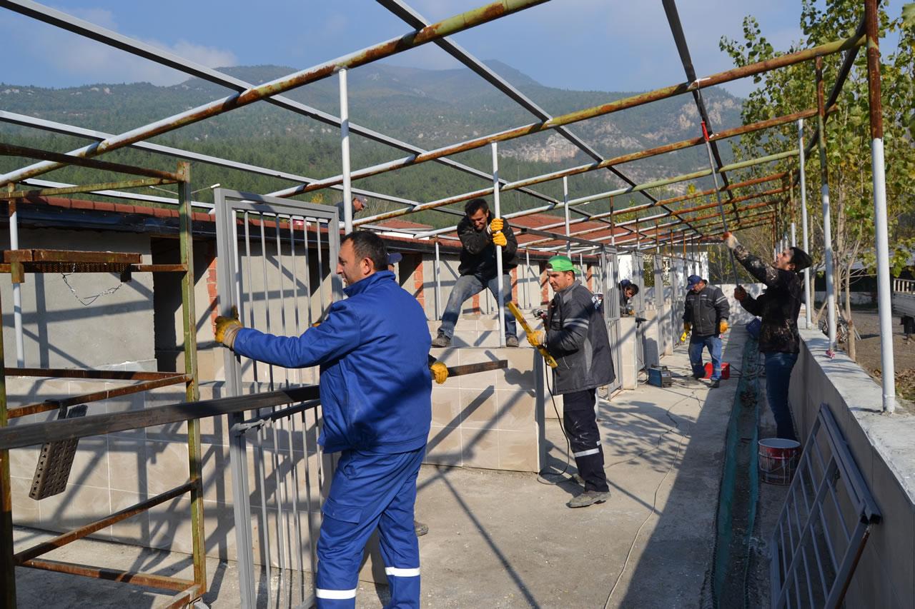 Karabük Belediyesi Hayvan Bakım Evi ve Rehabilitasyon Merkezi Ek Bina İnşaatında Sona Yaklaşıldı