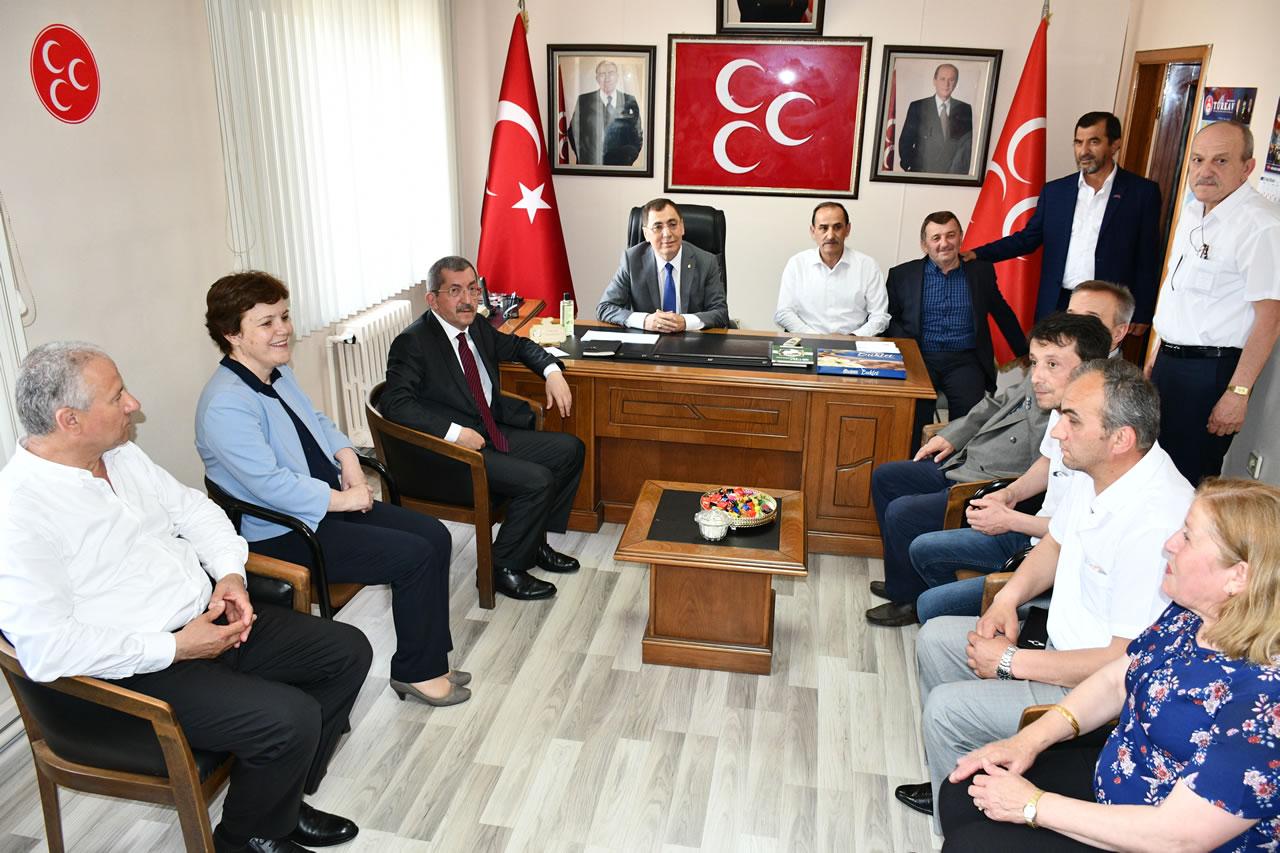 Başkan Vergili MHP Bayramlaşma Törenlerine Katıldı