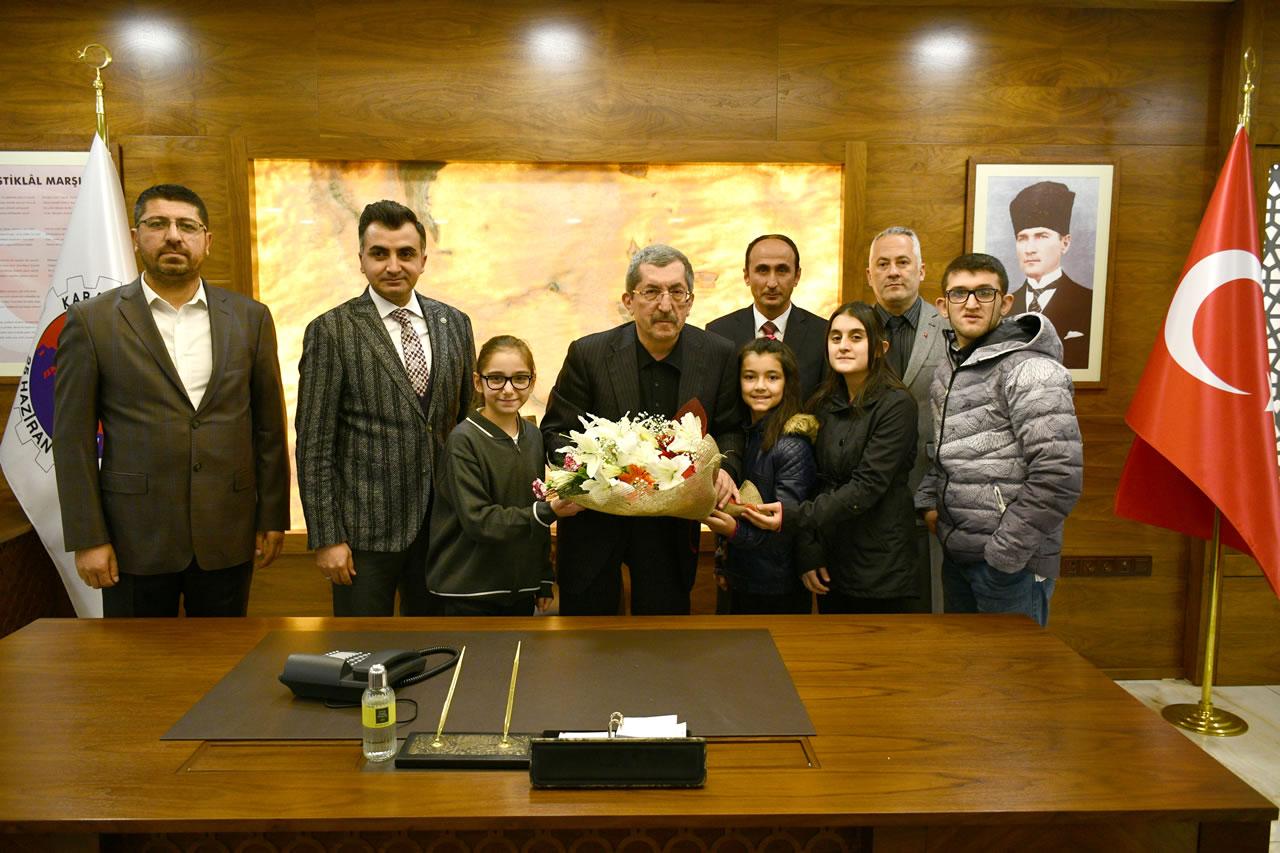 İl Milli Eğitim Müdürü Vargeloğlu ve Okul Müdürlerinden Başkan Vergili´ye Ziyaret