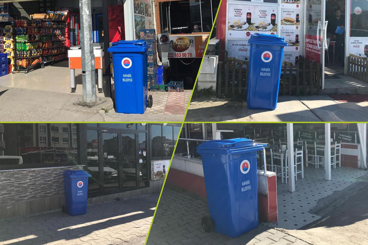 Her Apartman Sitesinin Önüne Bir Çöp Kovası Uygulaması 100. Yıl Mahallesi ile Devam Ediyor