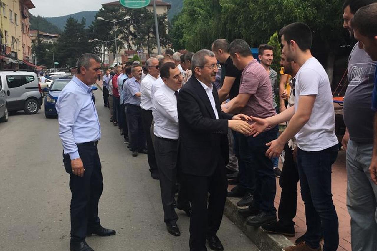 Başkan Vergili Yenice'de Bayramlaşma Törenine Katıldı