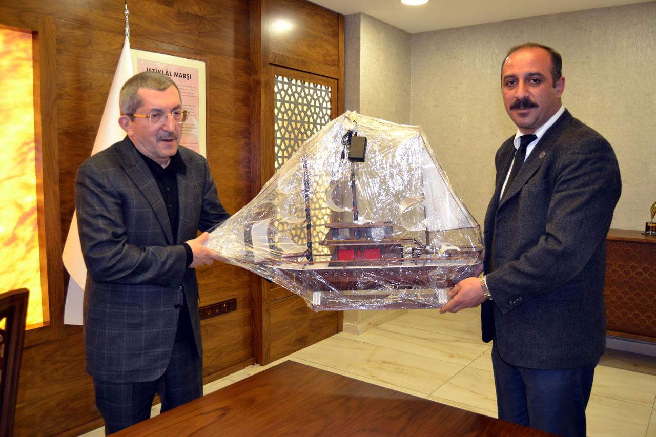 Eskipazar Açık Cezaevi Müdürü Sertan Işıldak´tan Başkan Vergili´ye Ziyaret