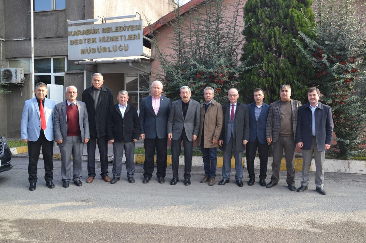 Yenice Belediye Başkanı Çaylı ve MHP Yenice İlçe Başkanı Karakırık´tan Başkan Vergili´ye Ziyaret