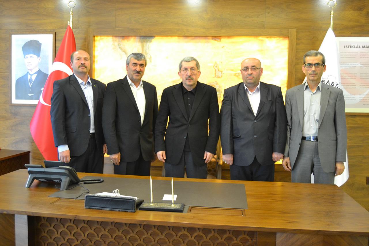 Eskipazar MHP İlçe Teşkilatından Başkan Vergili´ye Ziyaret