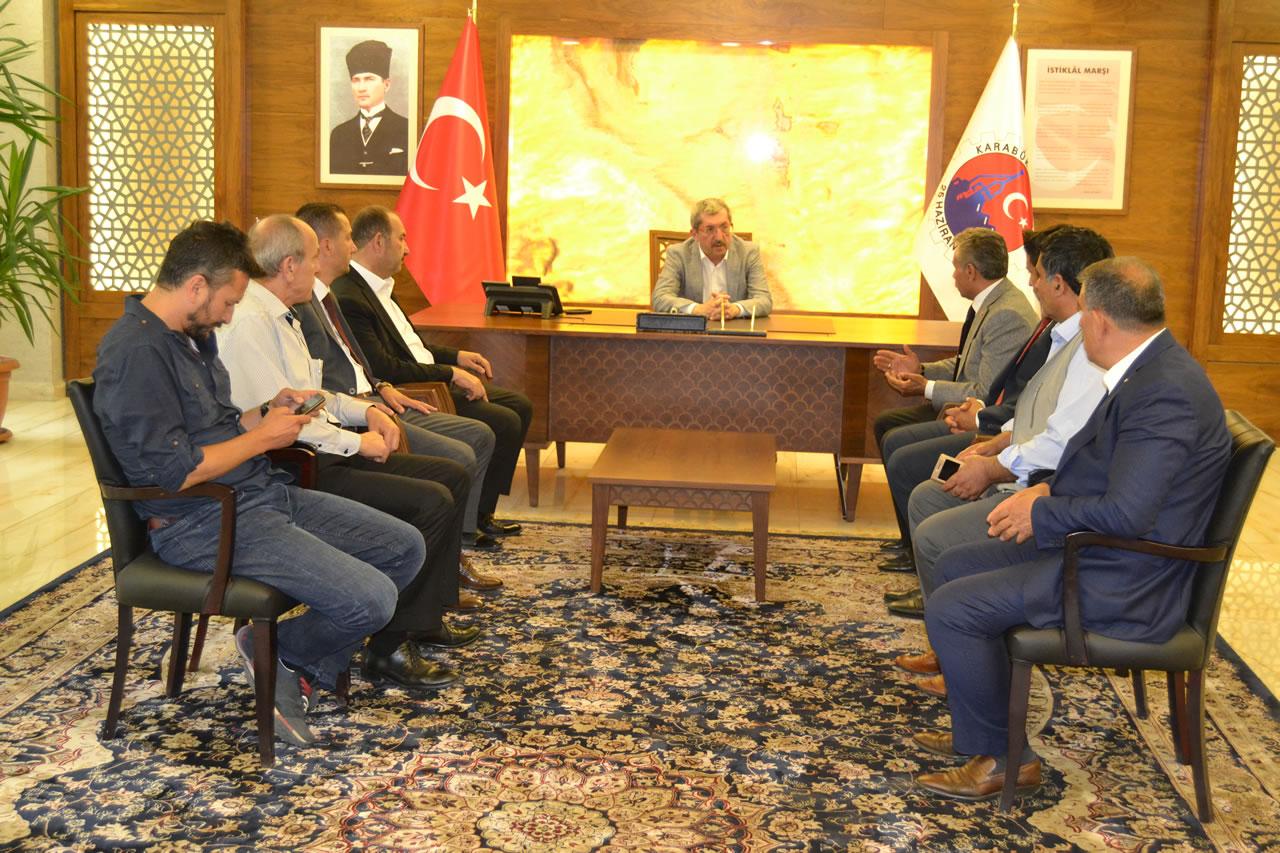 Karabük MHP Merkez İlçe Teşkilatı ve Milletvekili Adaylarından Başkan Vergili´ye Ziyaret