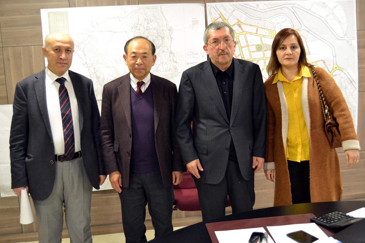Başkan Vergili´ye Japon Misafirlerinden Proje Ziyareti