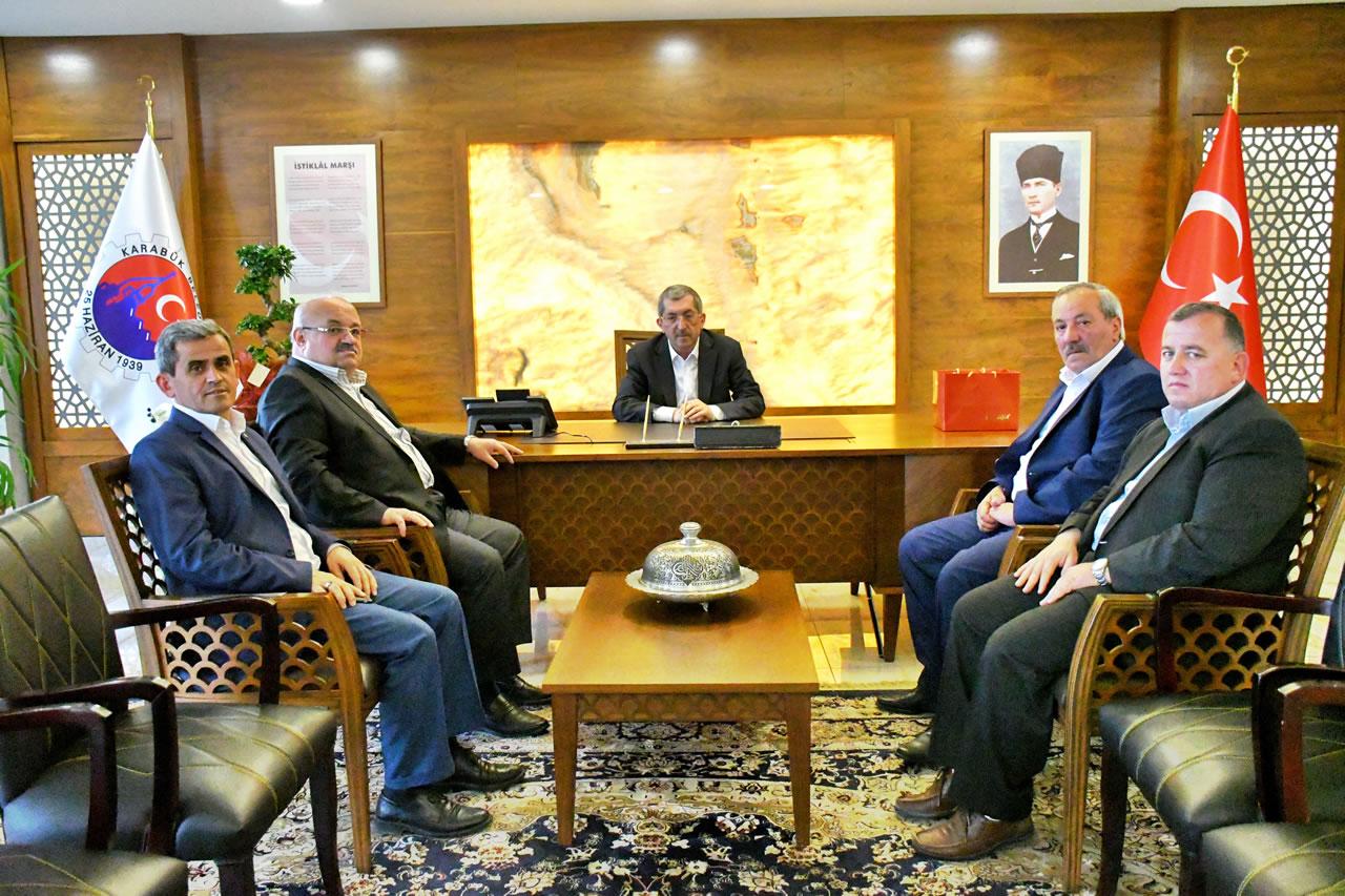 Safranbolu Şoförler ve Otomobilciler Esnaf Odasından Başkan Vergili´ye Hayırlı Olsun Ziyareti
