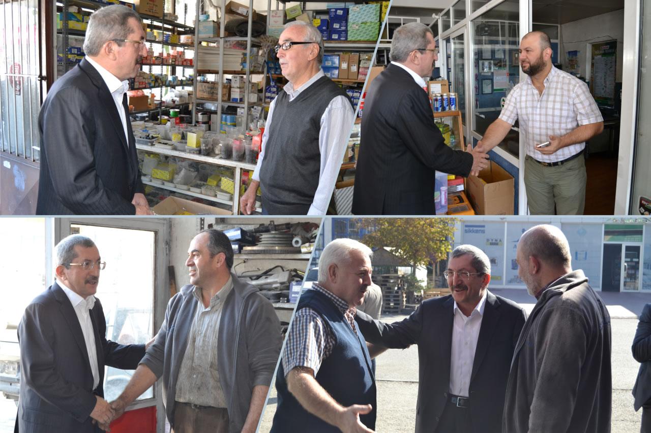 Başkan Vergili Kemal Oyman Sanayi Sitesi Esnaflarını Ziyaret Etti