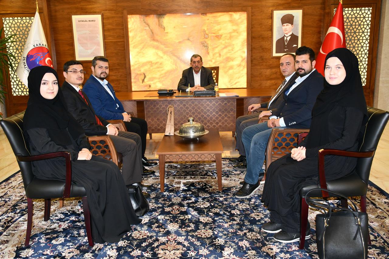 Birlik Vakfı Karabük Şube Başkanı Şahin ve Yönetiminden Başkan Vergili´ye Ziyaret