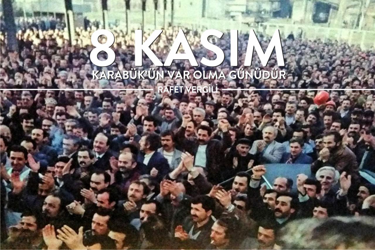 """Başkan Vergili: """"8 Kasım Karabük'ün Var Olma Günüdür"""""""