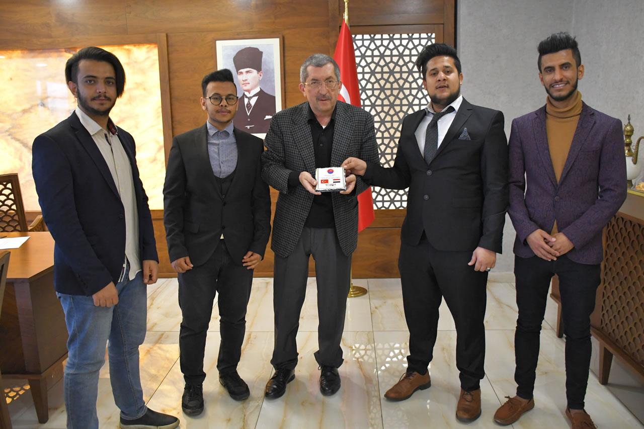 Karabük Yemenli Öğrenciler Derneğinden Başkan Vergili´ye Hayırlı Olsun Ziyareti