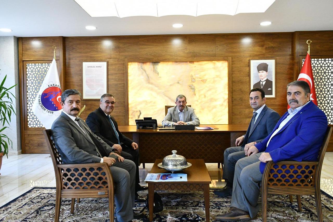 Türk Yerel Hizmet-Sen´den Başkan Vergili´ye Ziyaret