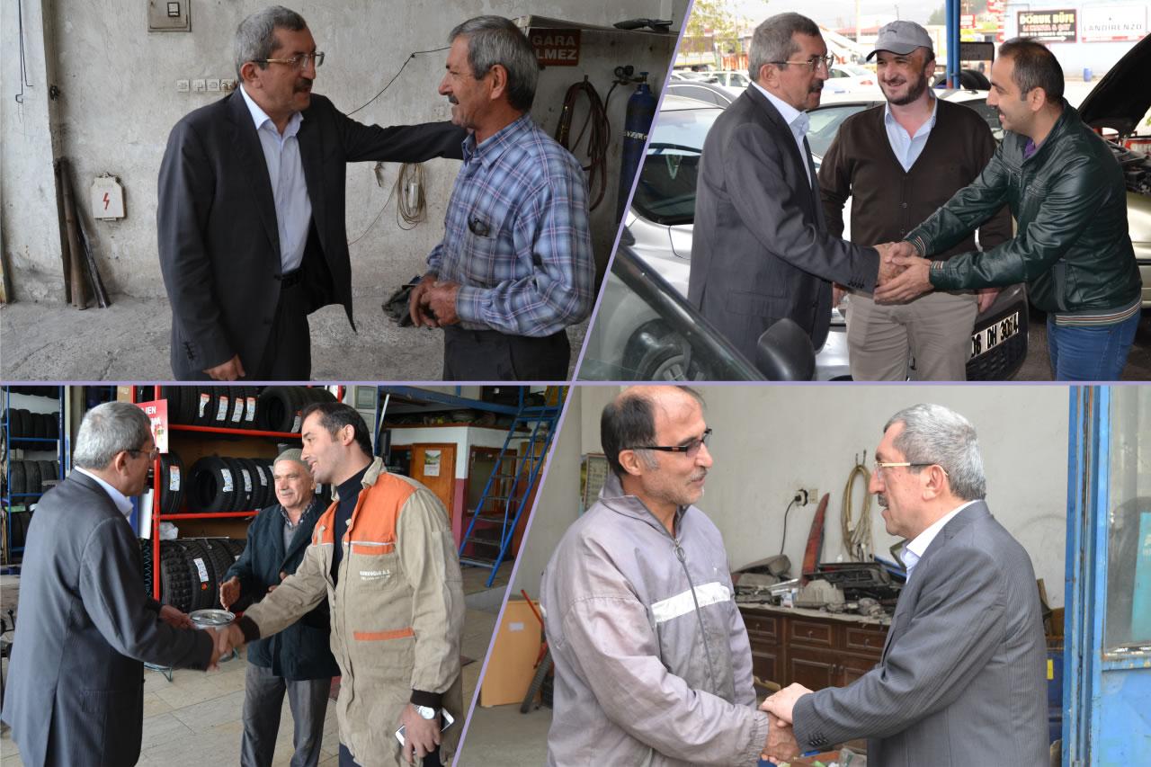 Başkan Vergili Kemal Oyman Sanayi Sitesi Esnaf Ziyaretlerine Devam Etti