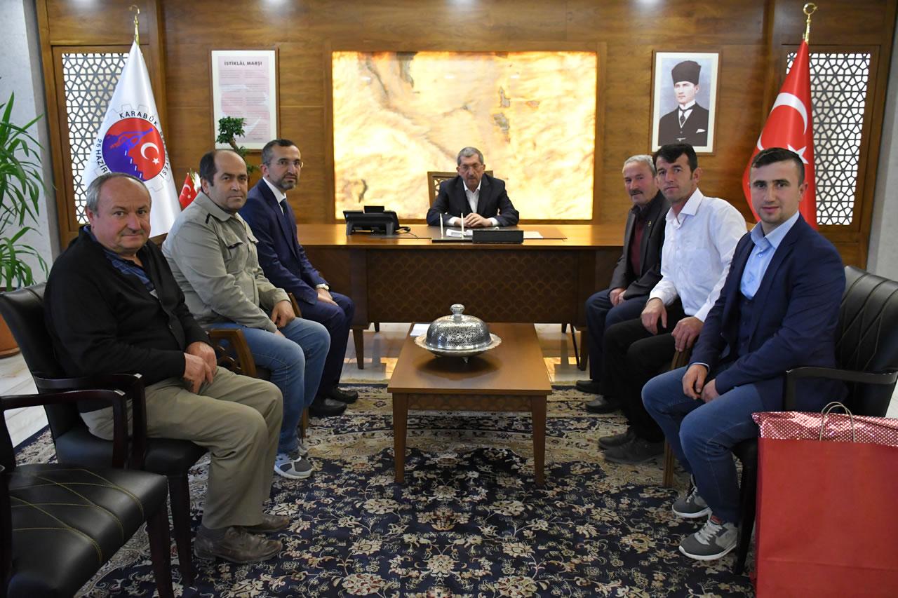 Eskipazar Köyceğiz Cami Derneğinden Başkan Vergili´ye Hayırlı Olsun Ziyareti