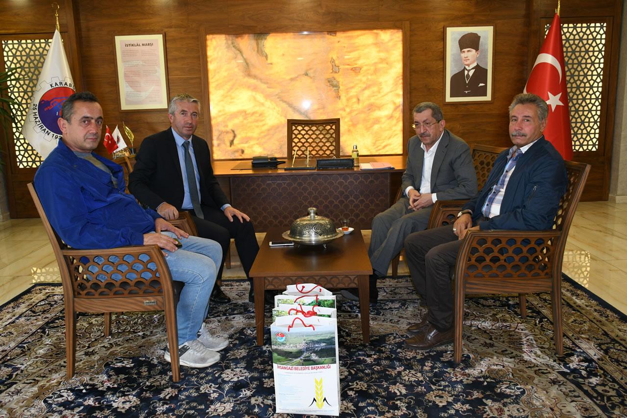 Araç İhsangazi Belediye Başkanı Sağlık´tan Başkan Vergili´ye Ziyaret