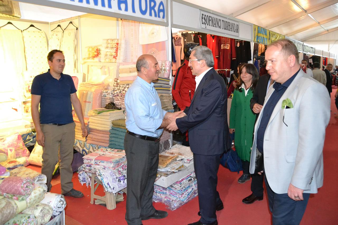 Başkan Vergili´den Esnaf Günleri Alışveriş Çadırındaki Esnaflara Ziyaret
