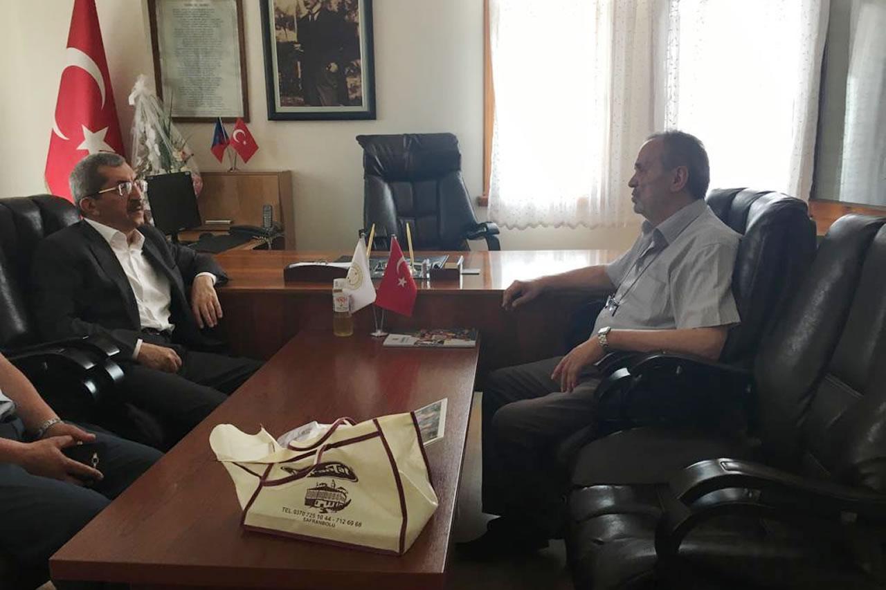 Başkan Vergili´den Yortan Belediye Başkanı Ali Şık´a Ziyaret