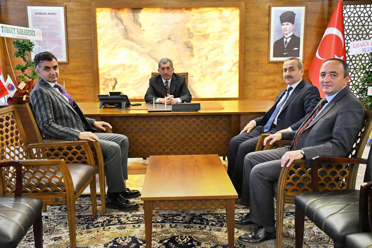 İl Milli Eğitim Müdürü Vargeloğlu'ndan Başkan Vergili'ye Hayırlı Olsun Ziyareti