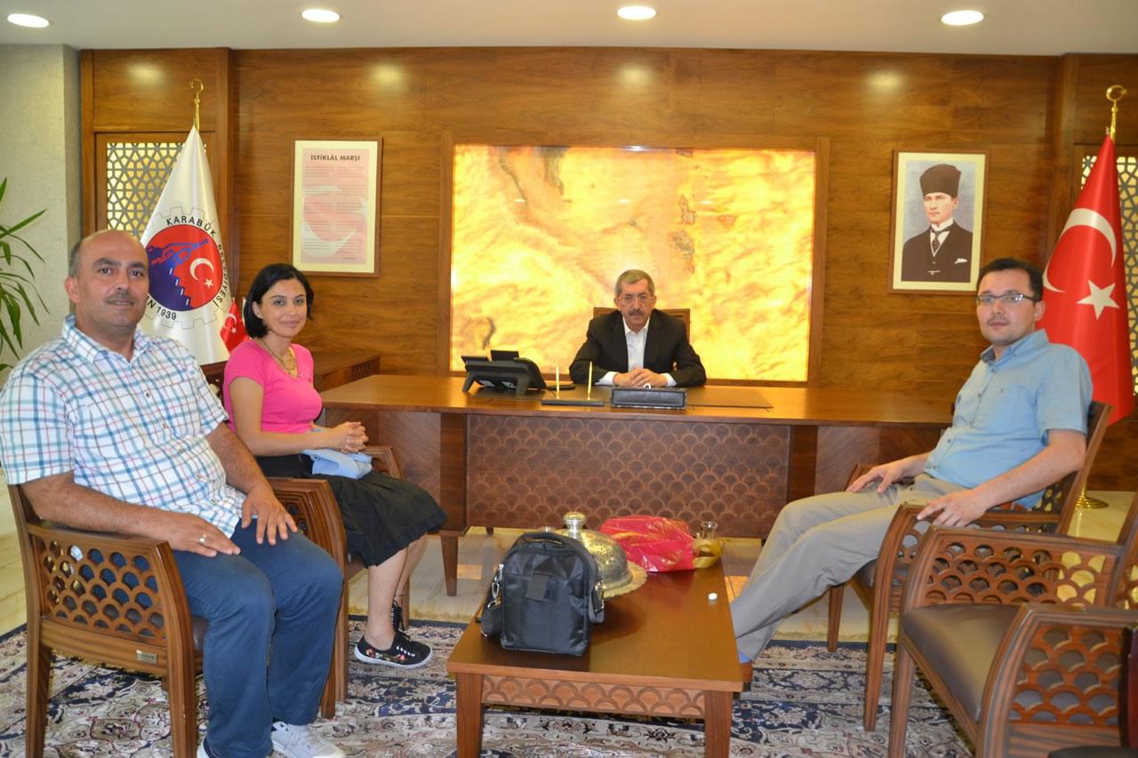 Mehmet Vergili Fen Lisesi Yönetiminden Başkan Vergili'ye Ziyaret