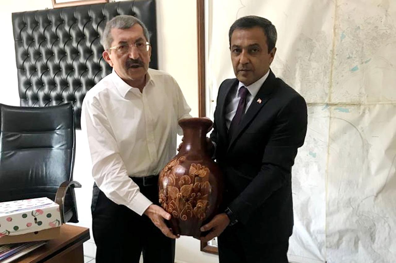 MHP Bilecik Yenipazar Belediye Başkanı İlhan Özden´den Başkan Vergili´ye Hayırlı Olsun Ziyareti