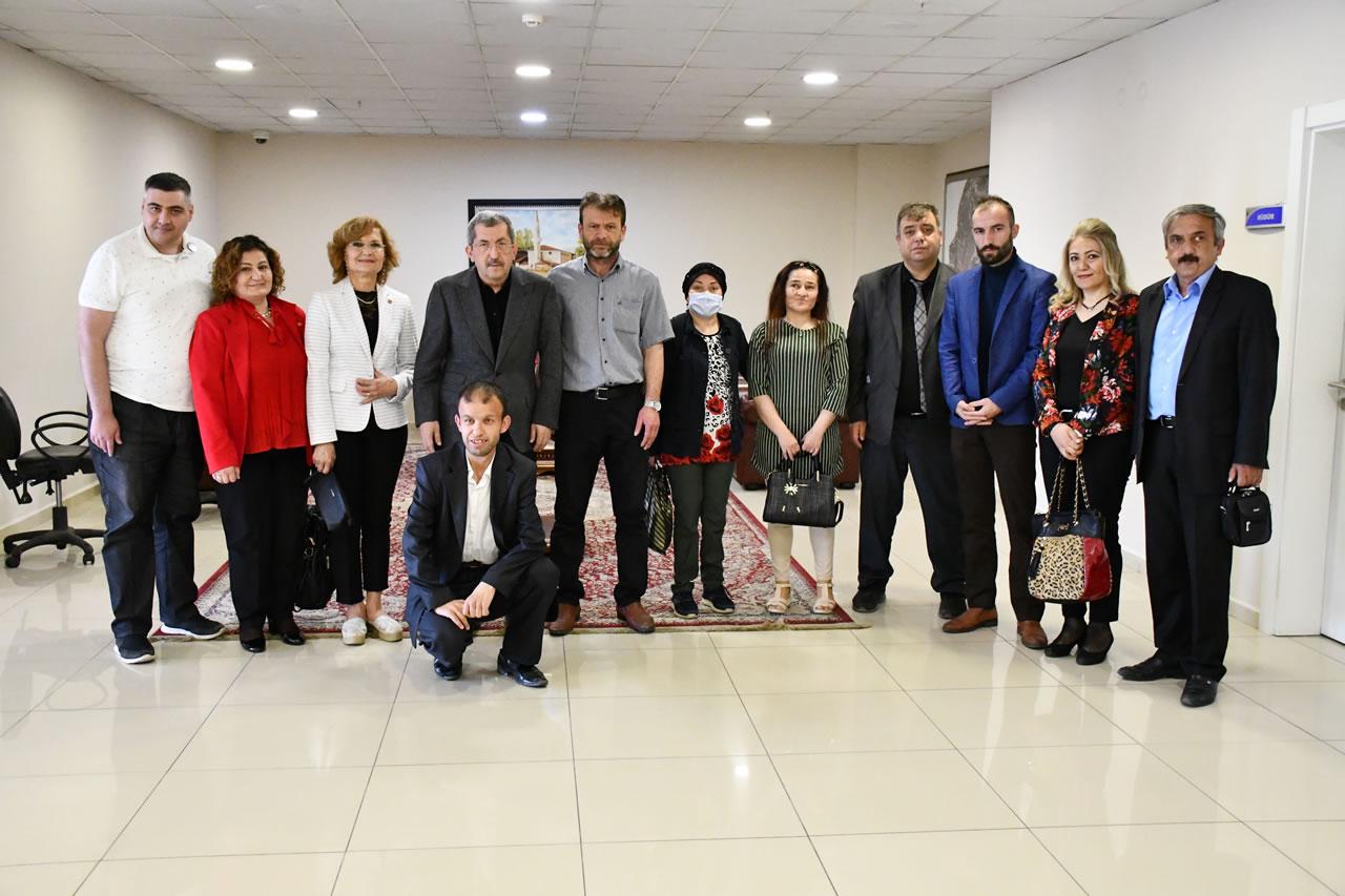 Türkiye Engelli Meclisi Karabük Temsilciliğinden Başkan Vergili´ye Hayırlı Olsun Ziyareti