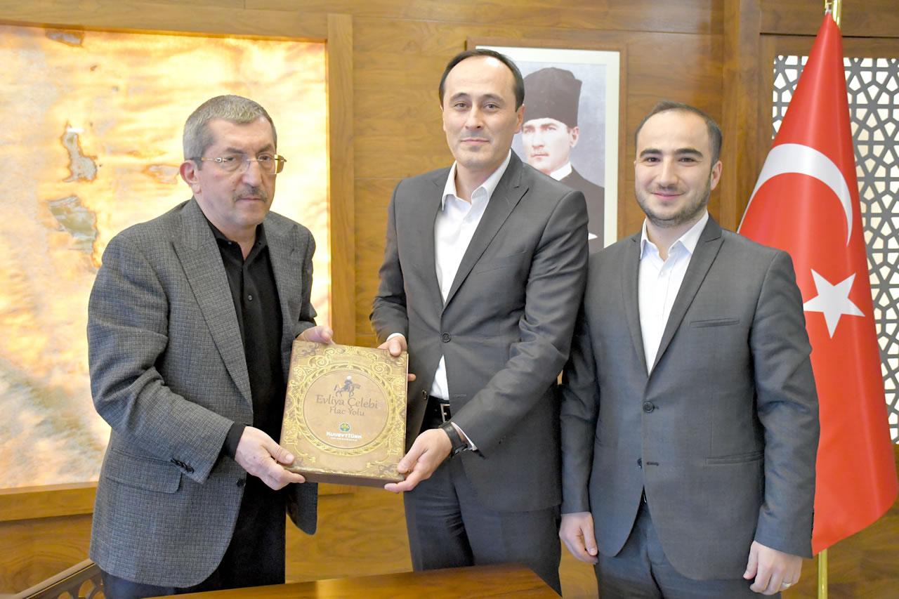 Kuveyt Türk Katılım Bankası Karabük Şubesinden Başkan Vergili´ye Hayırlı Olsun Ziyareti