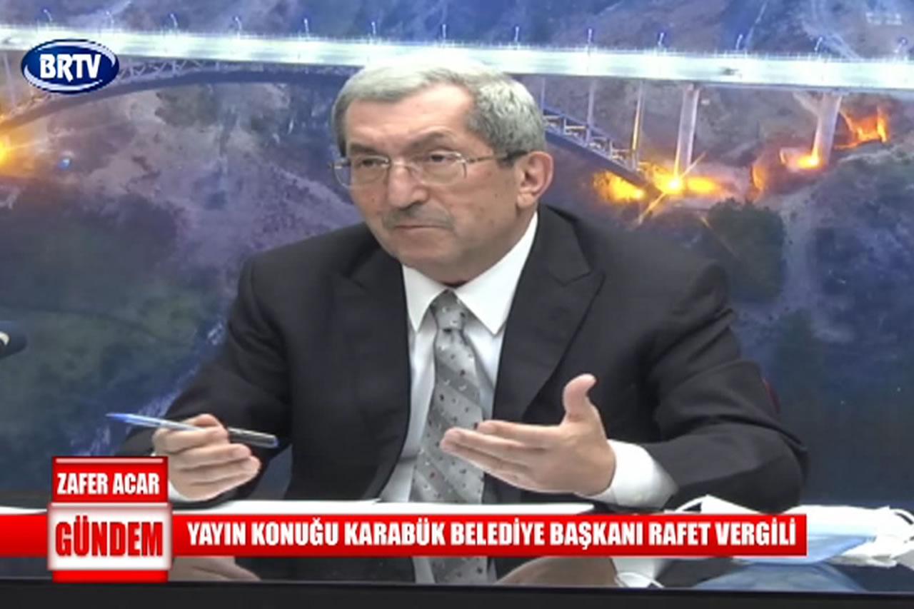 Belediye Başkanı Rafet Vergili BRTV Ekranlarında Önemli Açıklamalarda Bulundu