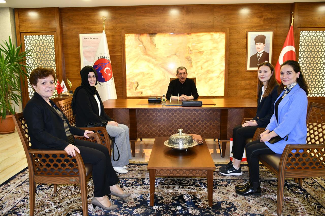 Uluslararası Çocuk İstismarı ile Mücadele Derneği Karabük İl Temsilcisi Doğan ve Dernek Üyelerinden Başkan Vergili'ye Ziyaret