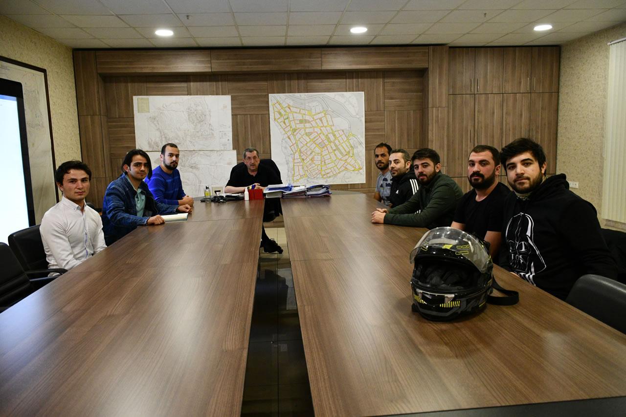 Ankara Tüm Anadolu Motosikletli Kuryeler Karabük Dernek Başkanı Şimşek ve Yönetiminden Başkan Vergili'ye Ziyaret