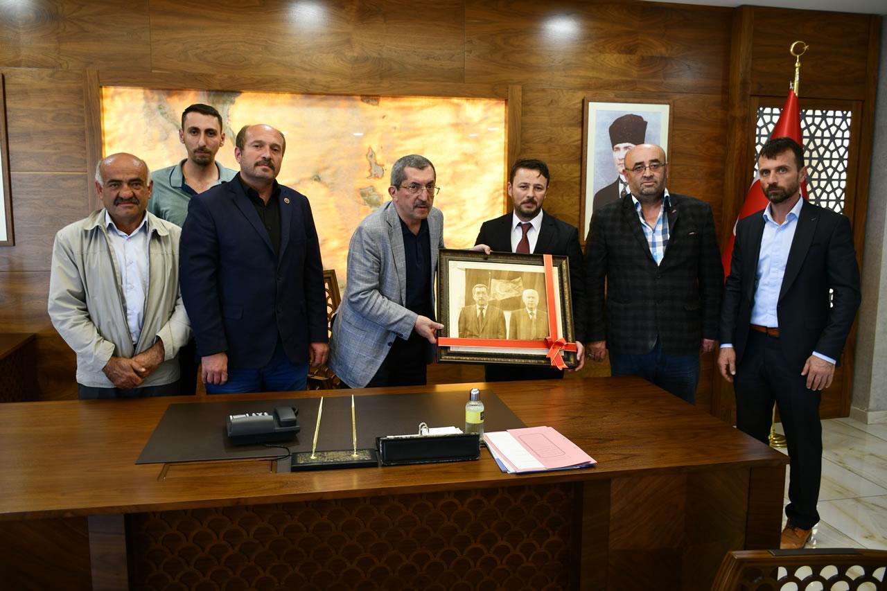MHP Eskipazar İlçe Teşkilatından Başkan Vergili´ye Ziyaret