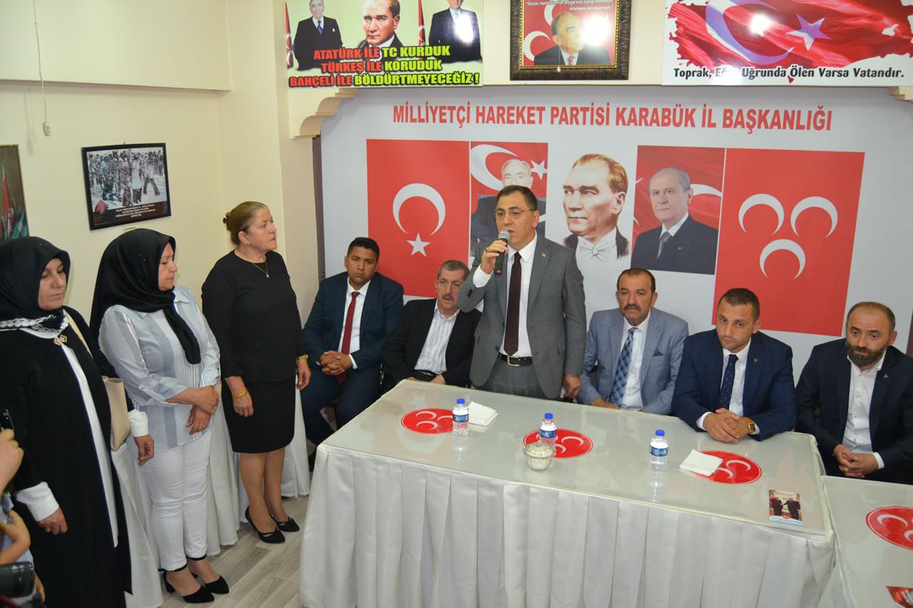 Başkan Vergili MHP Bayramlaşma Törenine Katıldı