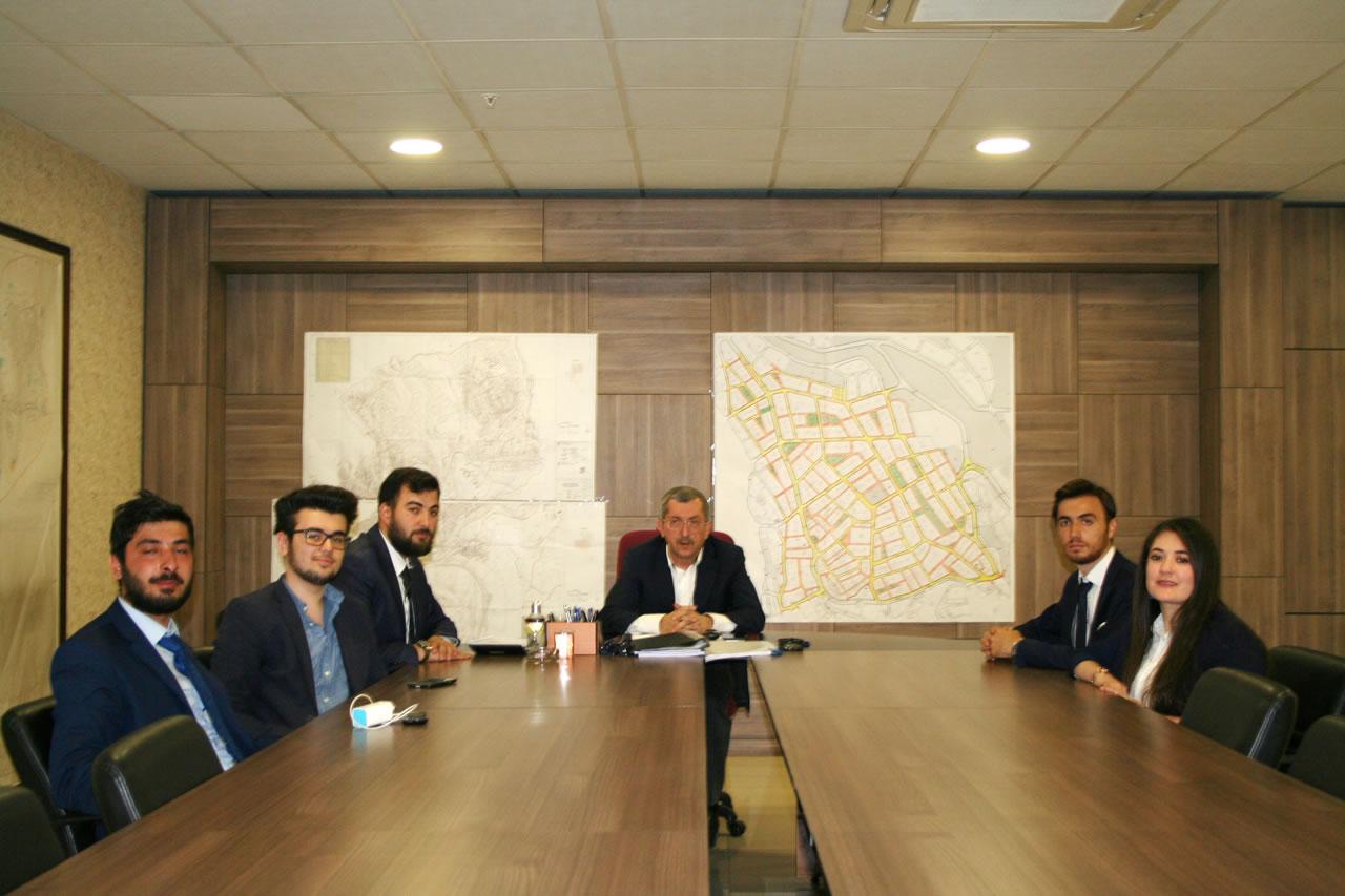 KBÜ Kariyer Kulübünden Başkan Vergili´ye Ziyaret