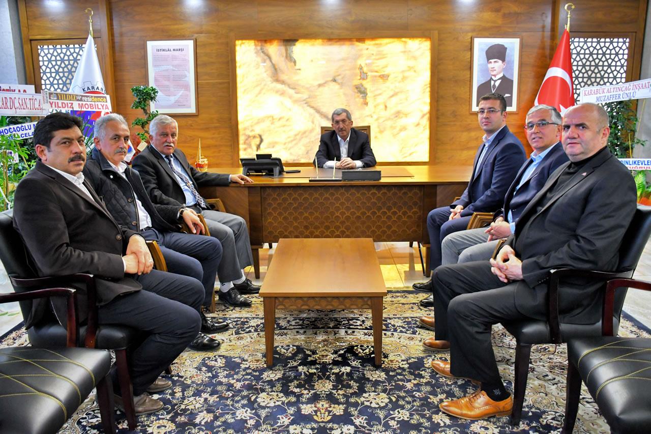 MHP Araç İlçe Teşkilatından Başkan Vergili'ye Hayırlı Olsun Ziyareti