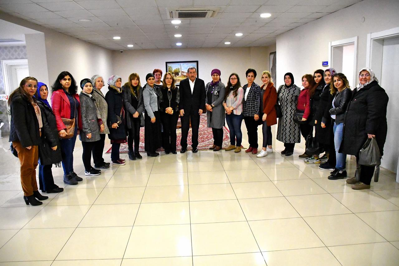 MHP Zonguldak İl ve İlçe Kadın Kollarından Başkan Vergili'ye Hayırlı Olsun Ziyareti