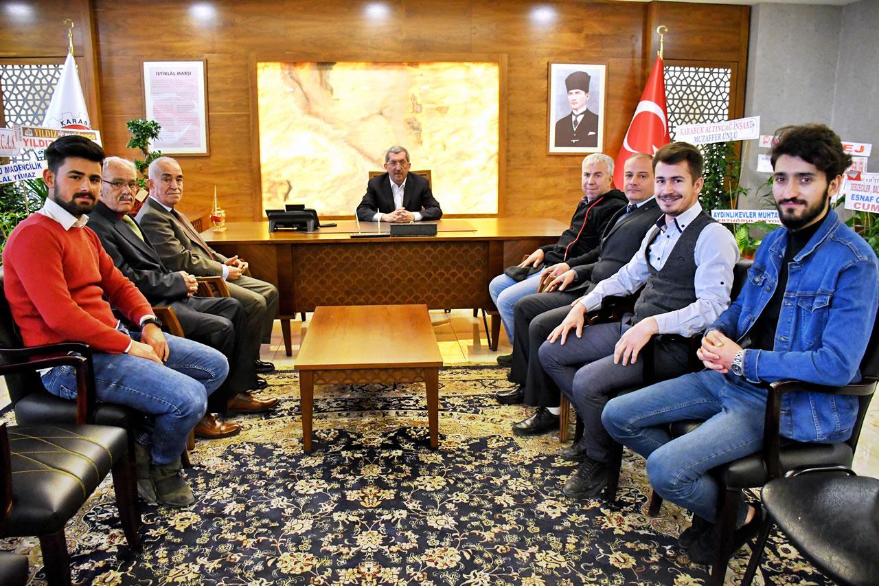 Türk Hava Kurumu Karabük Şubesinden Başkan Vergili'ye Hayırlı Olsun Ziyareti