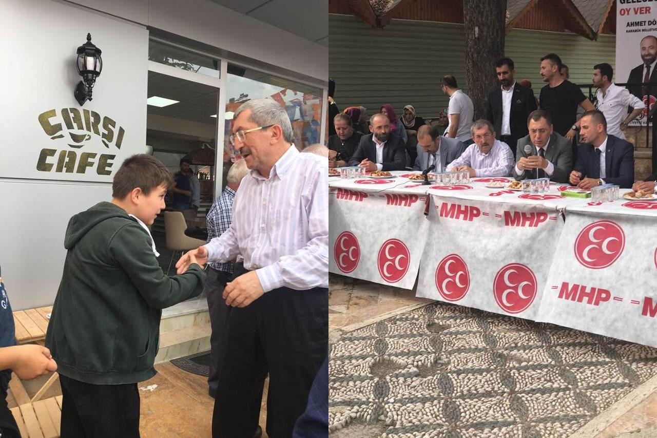 Başkan Vergili MHP Eskipazar İlçe Teşkilatının Bayramlaşma Törenine Katıldı