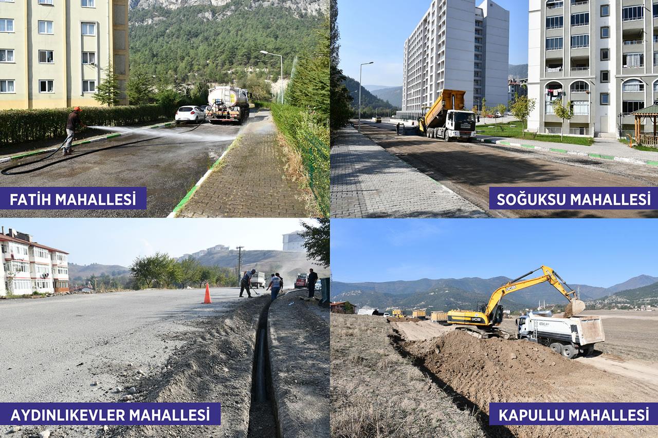 Karabük Belediyesi Şehir Genelinde Çalışmalarına Devam Ediyor