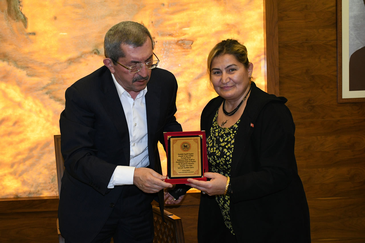 Karabük Engelli Engelsiz Gençlik ve Spor Kulübü Dernek Başkanı Karadayı ile Yönetiminden Başkan Vergili´ye Ziyaret