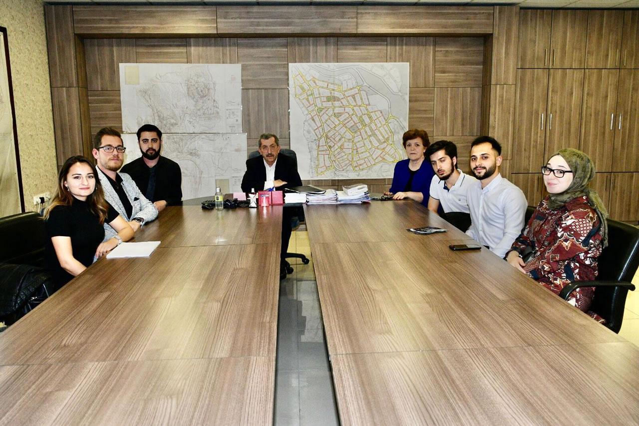 KBÜ Otomotiv Mühendisliği Öğrencilerinden Başkan Vergili´ye Ziyaret