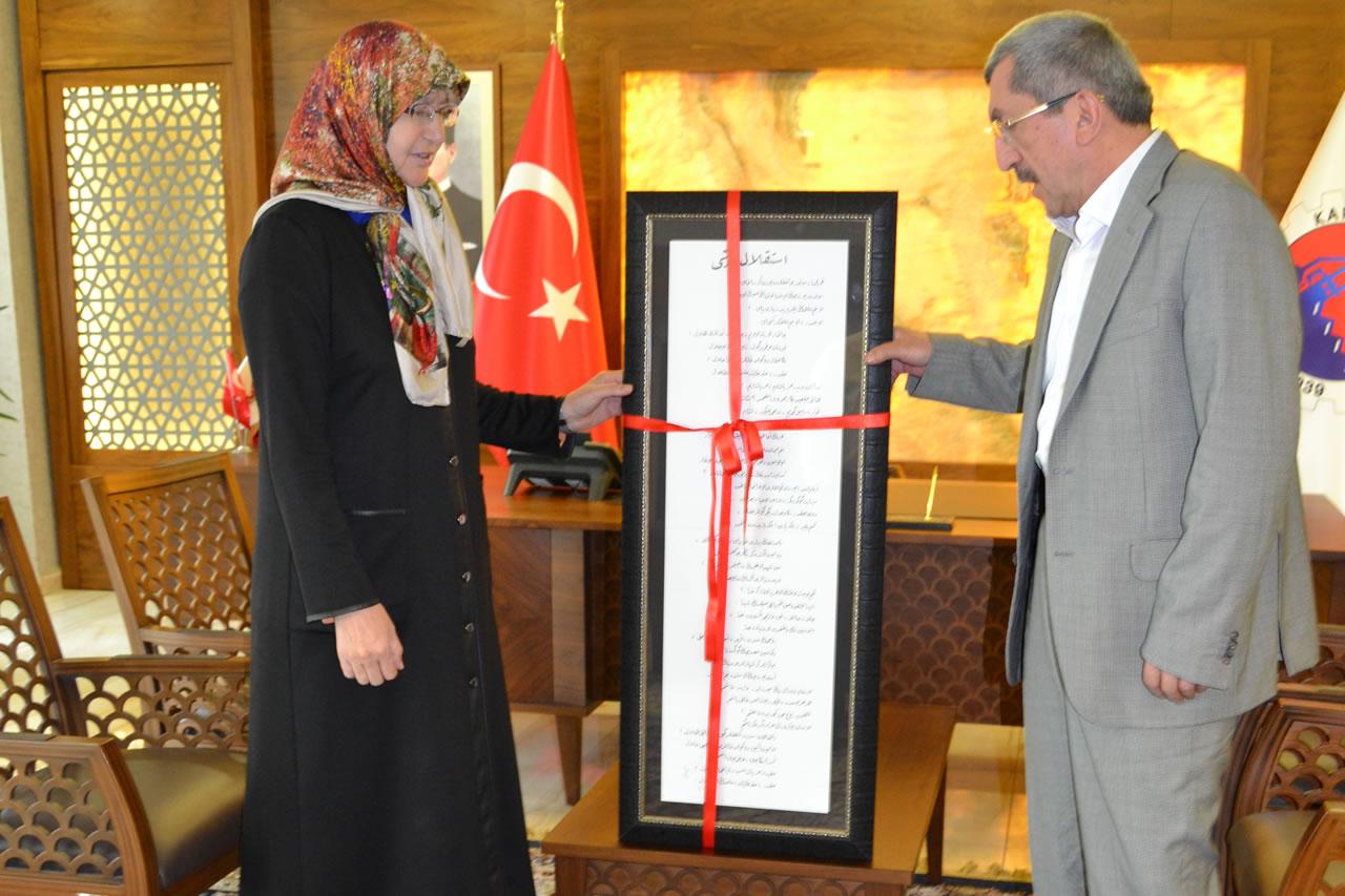Kaya'dan Başkan Vergili'ye Teşekkür Ziyareti