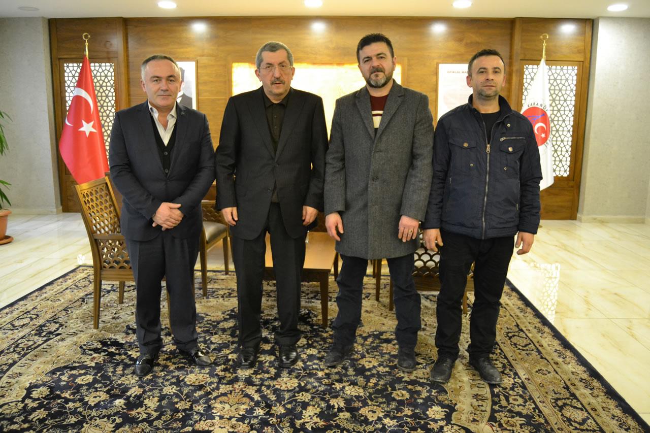 Doğan, Aksoy ve Akça'dan Başkan Vergili'ye Ziyaret
