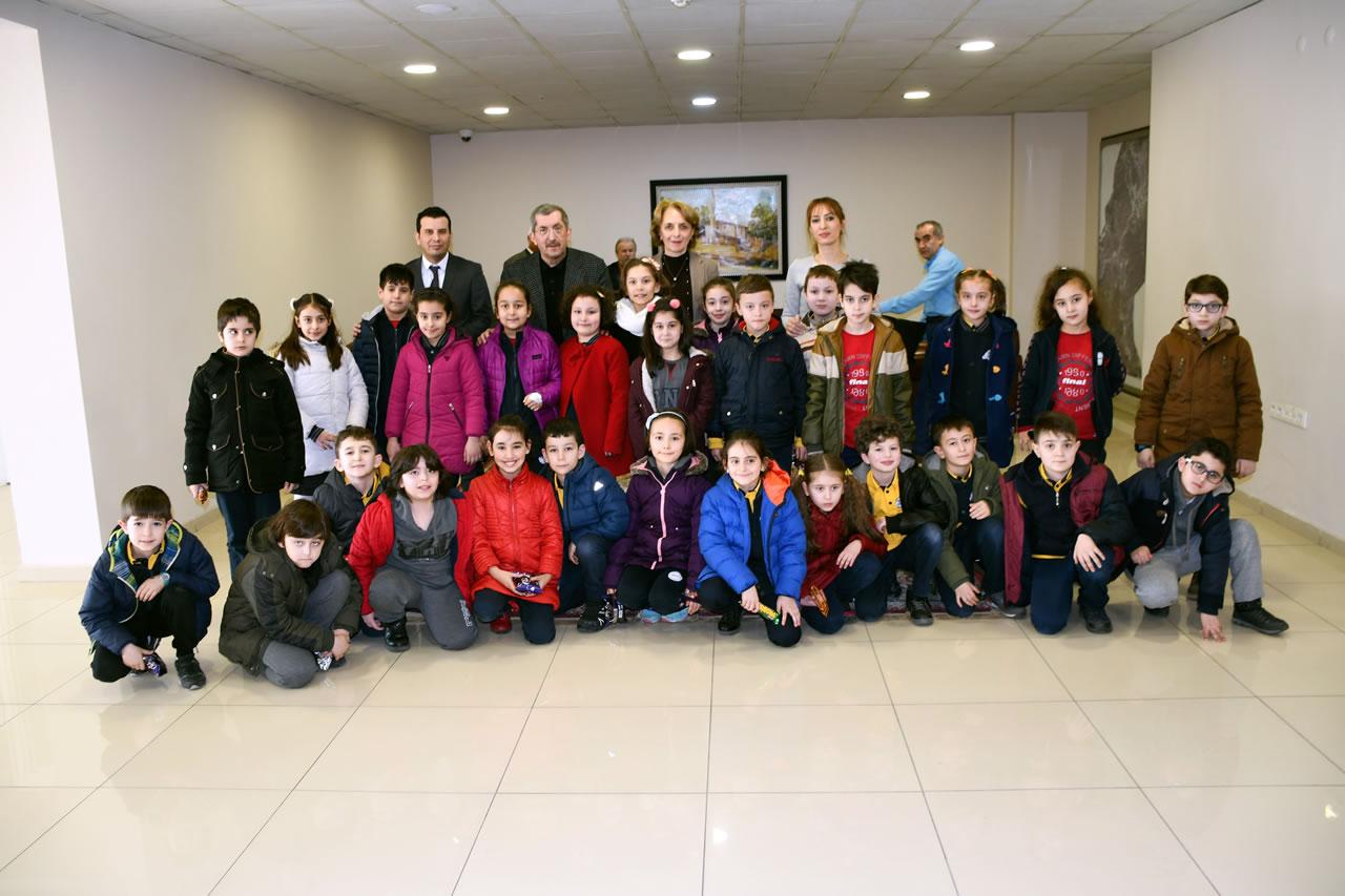 İlkokul Öğrencilerinden Başkan Vergili'ye Ziyaret