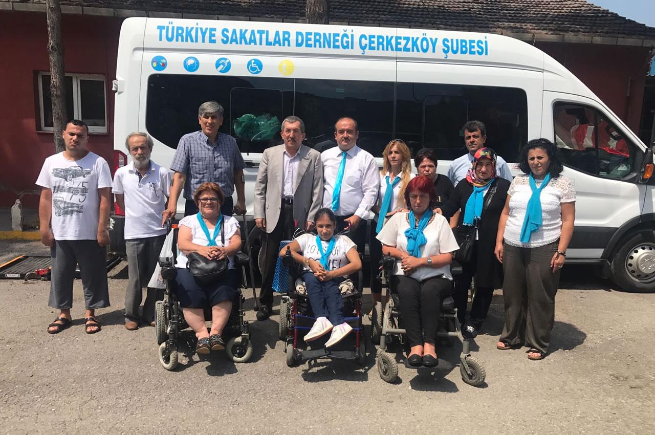 Türkiye Sakatlar Derneği Karabük ve Çerkezköy Şubelerinden Başkan Vergili´ye Ziyaret