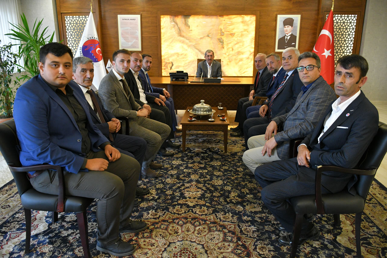 Karabük Derneklerinden Başkan Vergili´ye Ziyaret