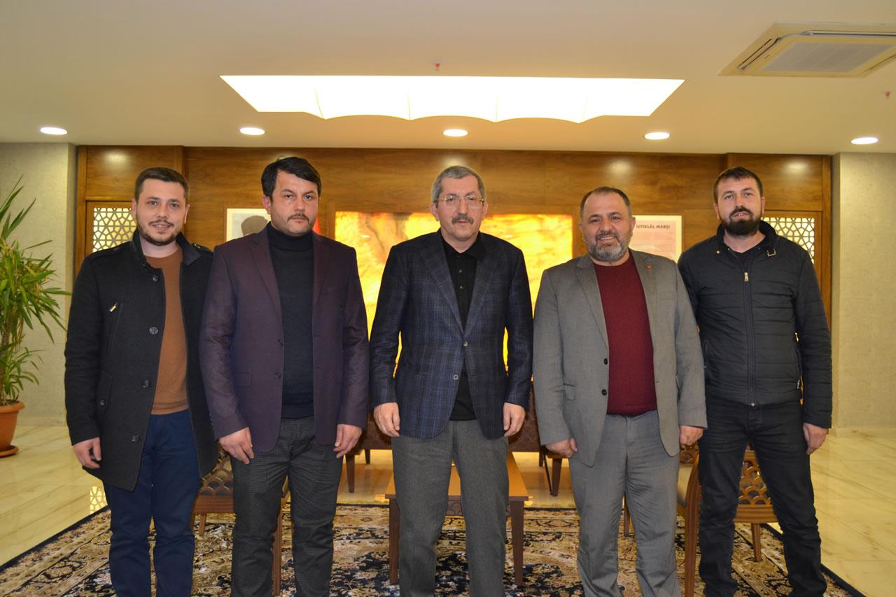 Berberler ve Kuaförler Odasından Başkan Vergili´ye Ziyaret