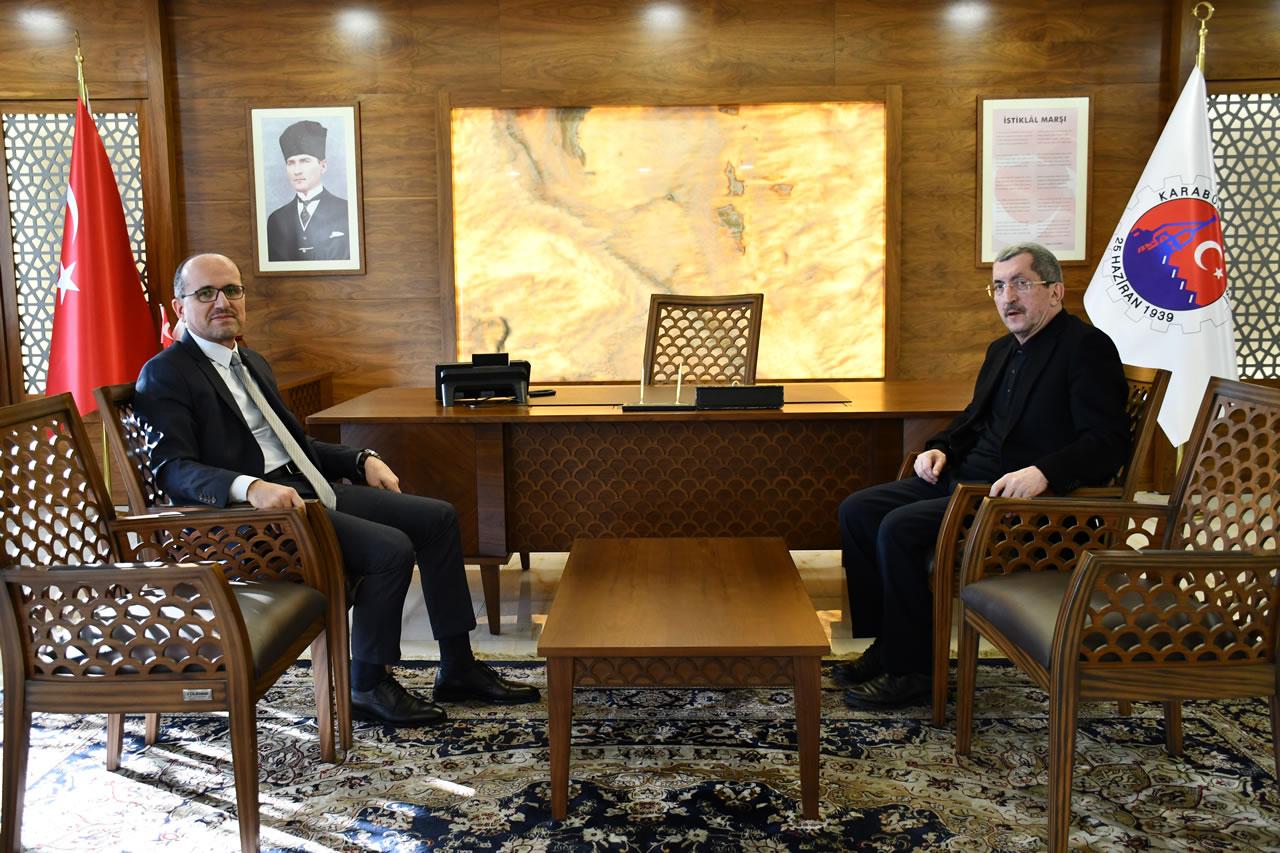 Kardemir Genel Müdürlüğü Görevine Atanan Soykan'dan Başkan Vergili'ye Ziyaret
