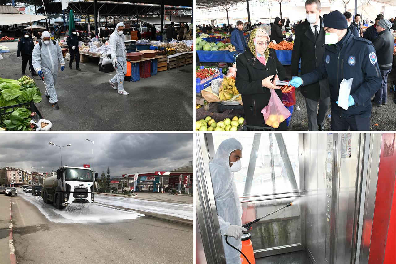 Karabük Belediyesi Virüsle Mücadeleye Öncülük Etmeye Devam Ediyor
